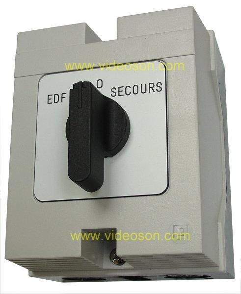 Videoson com inverseur manuel d 39 alimentation electrique - Branchement groupe electrogene sur tableau electrique ...