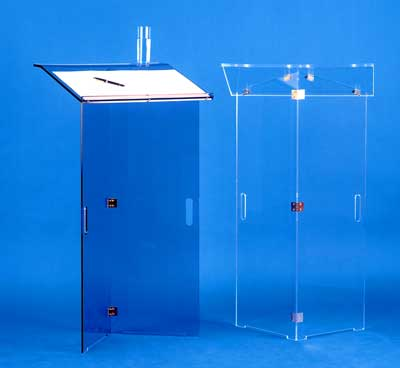 pupitre de conference pliable en plexiglas cristal. Black Bedroom Furniture Sets. Home Design Ideas